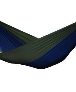 Dubbel-hängmatta i fallskärmssilke Navy Olive